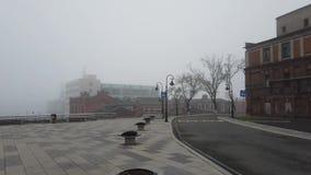 Stadtlandschaft im Nebel stock footage