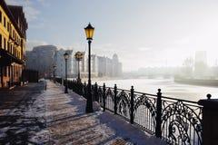 Stadtlandschaft im Winter Lizenzfreies Stockfoto