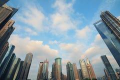 Stadtlandschaft Shanghais Lujiazui Stockfoto