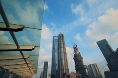 Stadtlandschaft Shanghais Lujiazui Stockfotos