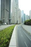 Stadtlandschaft Shanghais Lujiazui von Straßenszene Streetscape Lizenzfreie Stockfotos