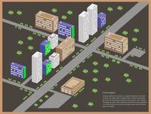 Stadtlandschaft und Infrastruktur Stock Abbildung