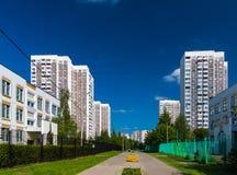 Stadtlandschaft in Zelenograd-Bezirk von Moskau, Russland Stockbild