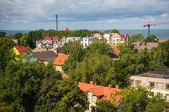 Stadtlandschaft in Zelenogradsk, Kaliningrad-Region, Russland Lizenzfreies Stockfoto