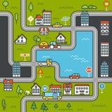 Stadtleben-Minimalismusillustrationskonzept lizenzfreie abbildung