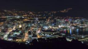 Stadtlicht-Zeitspanne summen herein laut stock video