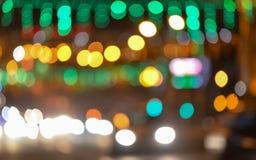 Stadtlichter verwischten bokeh Hintergrund Stockbild
