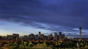 Stadtlichter von Denver Colorado Lizenzfreies Stockfoto