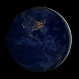 Stadtlichter von USA, Elemente dieses Bildes werden von der NASA geliefert Lizenzfreie Stockbilder