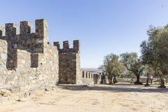Stadtmauer in Beja-Stadt, Alentejo, Portugal lizenzfreies stockfoto