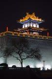 Stadtmauer nachts stockbilder