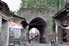 Stadtmauer von Ankang Stockbilder