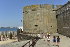 Stadtmauer von Saint Malo, Nordwest-Frankreich Stockfotografie