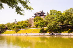 Stadtmauer in Xian Stockbilder