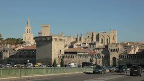 Stadtmauern von Avignon, Frankreich stock footage