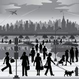 Stadtmenschen in Bewegung Lizenzfreie Stockbilder