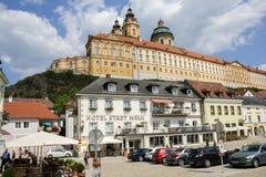 Stadtmitte von Melk, Österreich Lizenzfreie Stockbilder