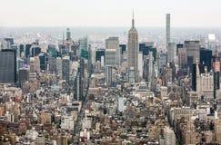 Stadtmitteansicht New York City Manhattan Lizenzfreie Stockbilder