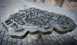 Stadtmodellbau von Stralsund, Deutschland Stockfoto