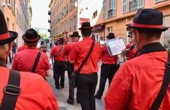 Stadtmusikband auf der Straße lizenzfreies stockfoto
