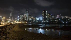 Stadtnachtansicht von Hajiali-dargah in Mumbai Lizenzfreies Stockfoto