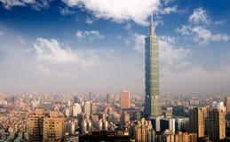 Stadtnachtszene in Taipei Lizenzfreie Stockfotos
