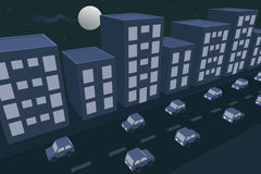 Stadtnachtverkehr Stockfotos