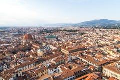 Stadtpanorama von Florenz Stockfotos