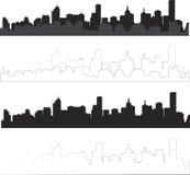 Stadtpanoramateil stock abbildung