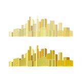 Stadtpanoramavektor Stockfoto