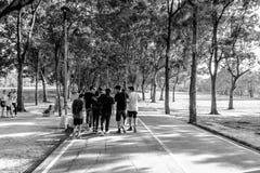 Stadtpark bei Vachira Benchathat Park (Fäule Fai Park) Lizenzfreies Stockfoto