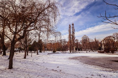 `Stadtpark` the city central park of Vienna. City Park in the center of Vienna royalty free stock image