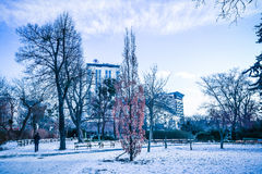 `Stadtpark` the city central park of Vienna. City Park in the center of Vienna stock photo