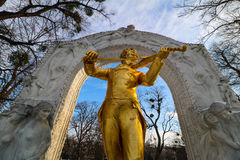 `Stadtpark` the city central park of Vienna. City Park in the center of Vienna stock photos