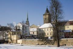 Stadtpark im Winter Lizenzfreies Stockbild