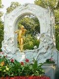 Stadtpark - Johann Strauss Sohn gilded statue Royalty Free Stock Images