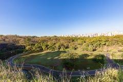 Stadtpark Ribeirao Preto, alias Curupira-Park Lizenzfreie Stockfotos