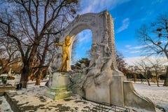`-Stadtpark ` staden Central Park av Wien Royaltyfria Bilder