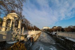 `-Stadtpark ` staden Central Park av Wien Fotografering för Bildbyråer