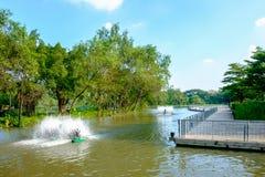 Stadtpark an Vachira Benchathat Park u. an x28; Fäule Fai Park u. x29; Lizenzfreie Stockfotografie