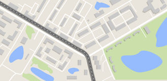 Stadtplan mit Straße Stockfotos
