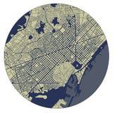 Stadtplan von Barcelona, Spanien vektor abbildung