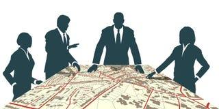 Stadtplaner stock abbildung