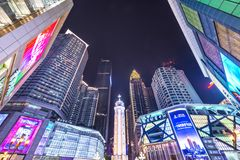 Stadtplatz Chongqings, China lizenzfreie stockbilder
