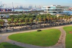 Stadtplatz und Seehafen Valencia, Spanien Stockbilder
