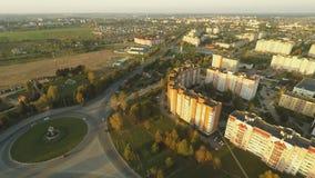 Stadtrände der Stadt von Lida belarus Wohnnachbarschaft stock video