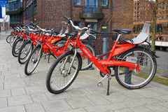 Stadtrad Hamburg bicycle sharing station Royalty Free Stock Photos