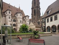 Stadtresidenz Ebersmunster and church in S Stock Images