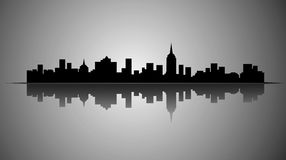 Stadtschattenbild Lizenzfreies Stockfoto