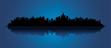Stadtschattenbild Stockbilder